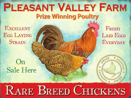 Pleasant Valley Farm - Metal Wall Sign (3 sizes)